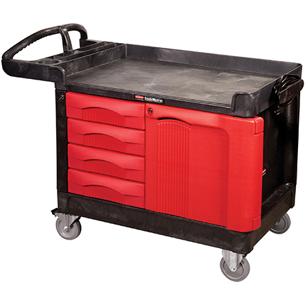 Rubbermaid<span class='rtm'>®</span> Trademaster<span class='rtm'>®</span> Cart with Cabinet - 50 x 27 x 39""