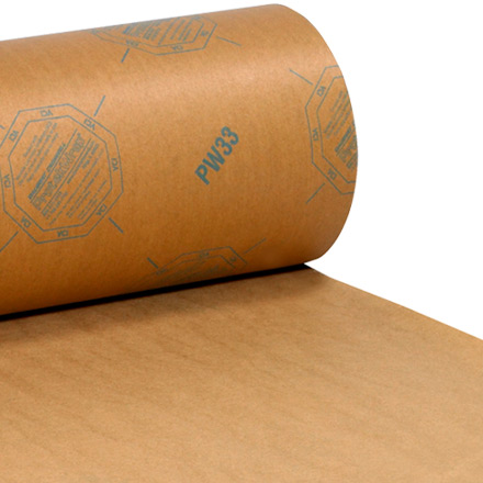 "36"" x 200 yds. VCI Paper 35 lb. Waxed Industrial Roll"